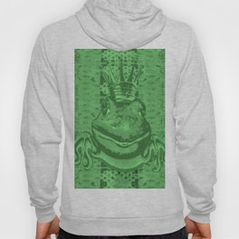 Mossy Deep Green King Frog Smile Hoody