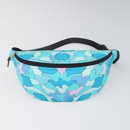 Camo Aqua Fanny Pack