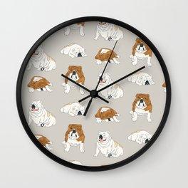 Bulldog Babies Wall Clock