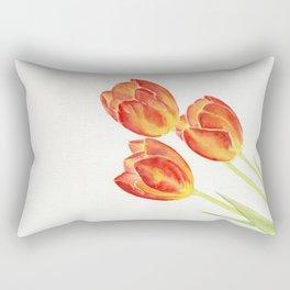 Tulips Watercolor Rectangular Pillow
