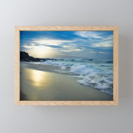 One Dream Sunset Hookipa Beach Maui Hawaii Framed Mini Art Print