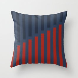 Vertically Red and Blue Throw Pillow