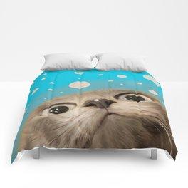 """Fun Kitty and Polka dots"" Comforters"