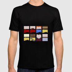 Enterprise 1701 D - Minimalist Star Trek TNG The Next Generation - startrek - Trektangles  X-LARGE Black Mens Fitted Tee