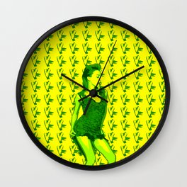 KM IP Yellow Wall Clock
