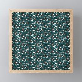 Flowers and Dice Framed Mini Art Print