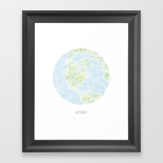See the big picture Framed Art Print