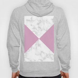 diagonal tiles marble pink pattern Hoody