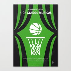 No633 My High School Musical minimal movie poster Canvas Print