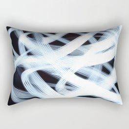 Scribbly Light Swoops Rectangular Pillow