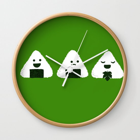 Nude Onigiri Wall Clock