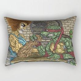 ThunderCats Vs. The Turtles - Lion-O Vs. Raphael Rectangular Pillow