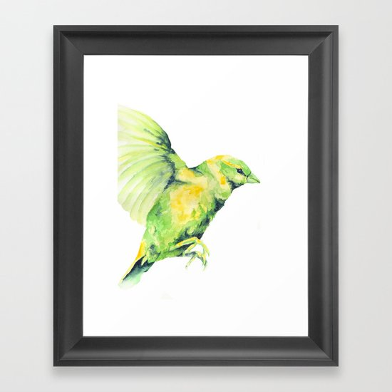 Bird, Sparrow Framed Art Print
