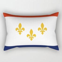 flag of new orleans,NOLA,Crescent City,Big Easy,Nawlins, jazz,Lousiana,french,cajun,treme Rectangular Pillow