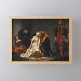 The Execution of Lady Jane Grey by Paul Delaroche, 1833 Framed Mini Art Print