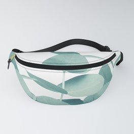 Eucalyptus Leaves Green White #1 #foliage #decor #art #society6 Fanny Pack