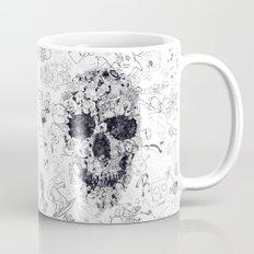 Doodle Skull BW Mug