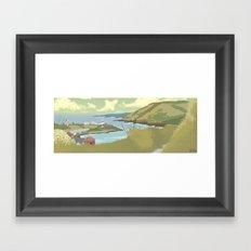 Roches Point Speedpainting Framed Art Print