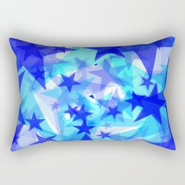 Glowing starfish on a light background in projection and with depth. Rectangular Pillow
