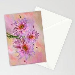 Dahlias Stationery Cards