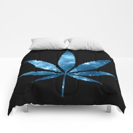 Weed : High Times blue Galaxy Comforters