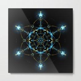 The Aether Mandala Metal Print