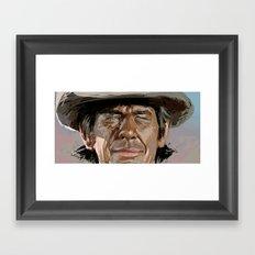 Harmonica Man Framed Art Print