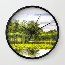 The Lily Pond Art Wall Clock