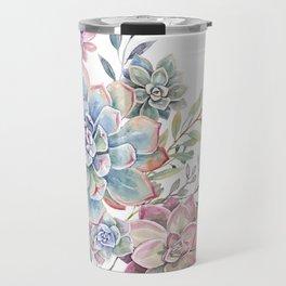 succulent watercolor 6 Travel Mug