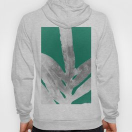 Christmas Fern, Holiday Green with Silver Winter Leaf Hoody