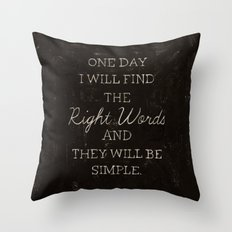The Right Words Throw Pillow