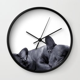 sleeping frenchies Wall Clock