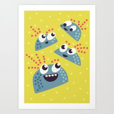 Happy Candy Friends Art Print