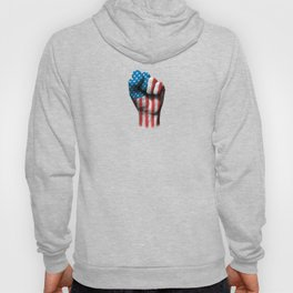 Flag of The United States on a Raised Clenched Fist Hoody