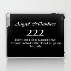 ANGEL Numbers 222 Laptop & iPad Skin