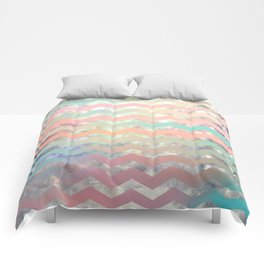 New World Chevron Pastel Comforters
