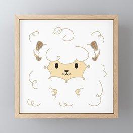 Fluffy Sheep Framed Mini Art Print