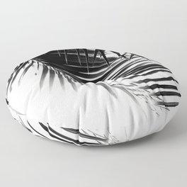 Palm Leaves Black & White Vibes #1 #tropical #decor #art #society6 Floor Pillow