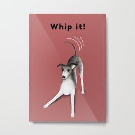 Whip it! (Blush Red) Metal Print