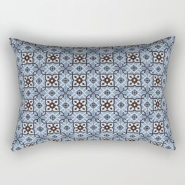 Blue Tiles Rectangular Pillow