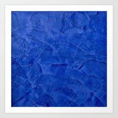 Dark Blue Stucco - Rustic Glam Art Print