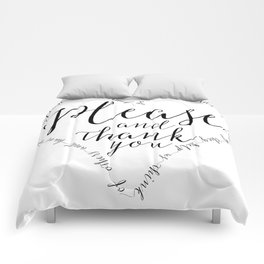 Please and Thank you Comforters
