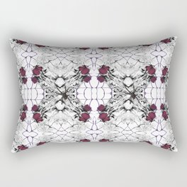 Roses Black Widow Rectangular Pillow