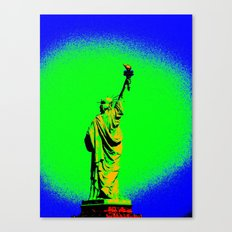 Neon Liberty Canvas Print