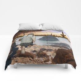 Desert Emergence collage Comforters
