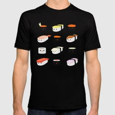 Sushi! Mens Fitted Tee Black MEDIUM
