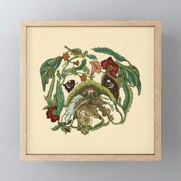 Botanical English Bulldog Framed Mini Art Print