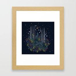 Midnight Exploration Framed Art Print