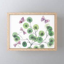 a touch of summer fragrance - white background Framed Mini Art Print