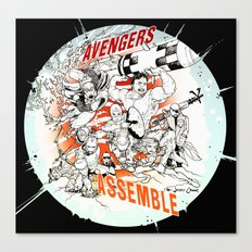 Earth's Mightiest Heroes Canvas Print